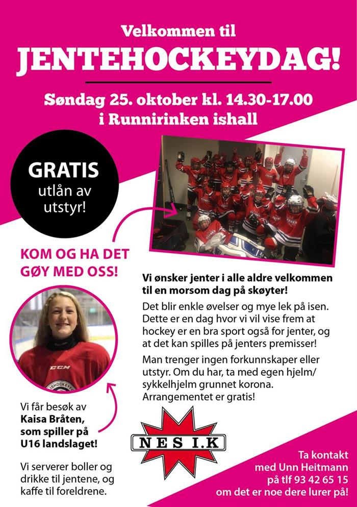 Jentehockeydag i Runnirinken