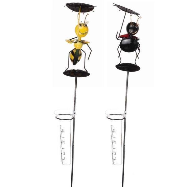 Regnmätare bi och nyckelpiga