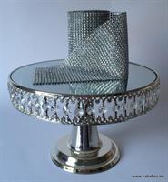 NB! Se beskrivelse - Kakestativ Rund Sølv, 30cm
