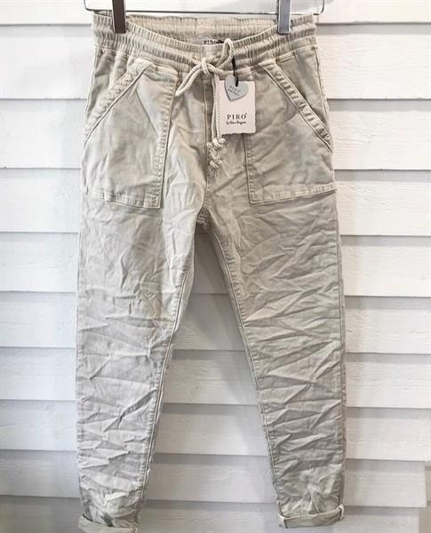 Piro Jeans Jogger, Beige