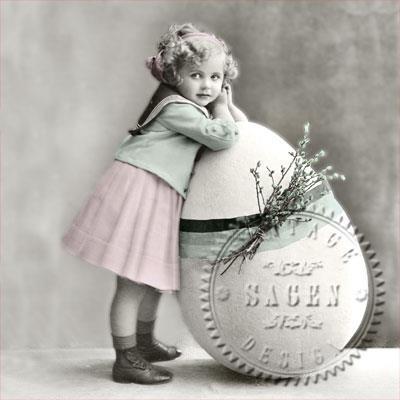 Sagen Vintage Serv Easter girl