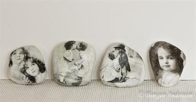 Dekorstenar vita, romantik små