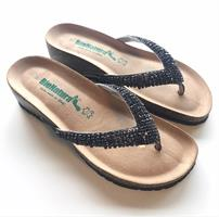 Bionatura Glitter sandaalit, Musta