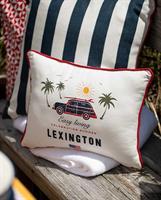 Lexington Surf Car Cotton Pillow, White