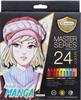 MasterArt Manga-sävyt puuvärikynäsetti +teroitin 24väriä