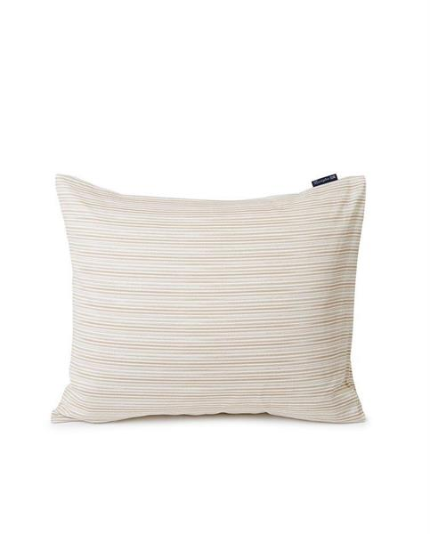 Lexington Beige Striped Organic Cotton Sateen Pillowcase