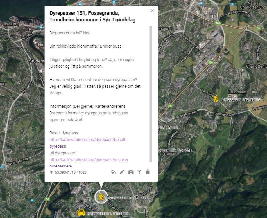 Dyrepasser 151, Fossegrenda, Trondheim kommune i Sør-Trøndelag