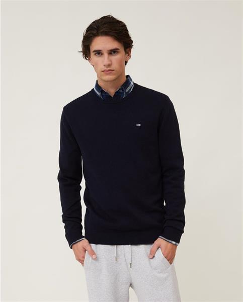 Lexington Bradley Organic Cotton Crew Neck Sweater, Dark Blue