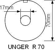 Mått på hålskiva UNGER R-70