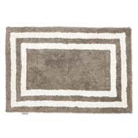 Classic Collection Bath Mat Firenze 60 x 90 cm, Simply Taupe/White
