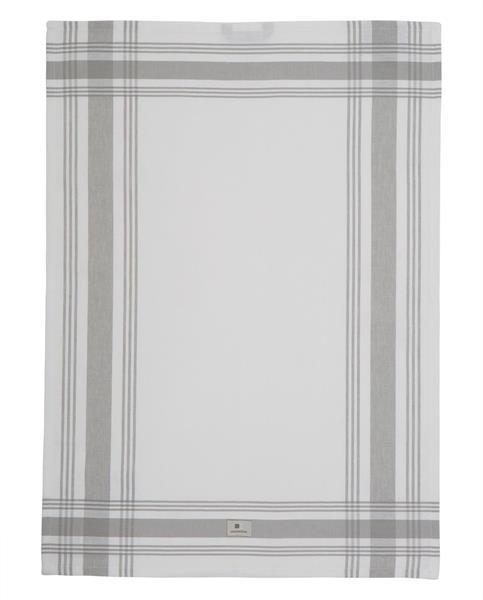 Lexington Hotel Framed Kitchen Towel, White/Gray