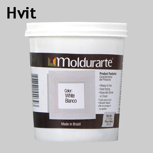 Moldurarte, rammekitt, hvit, white