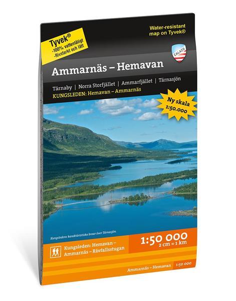 Fjällkarta Ammarnäs - Hemavan 1:50.000