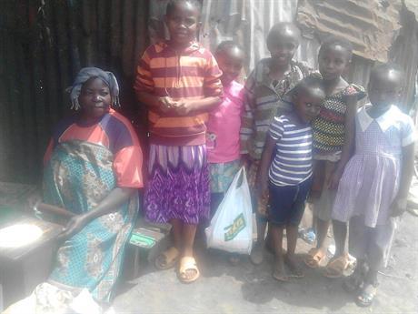 Hembesök hos några barn / Visit in some childrens home