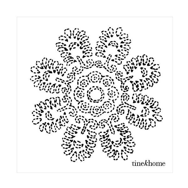 Tine K Home Paper Napkins w. Lotus Flower, Phantom