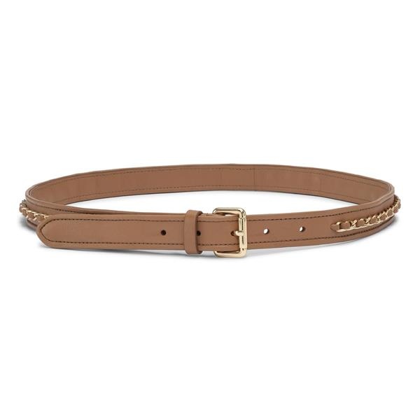 Day Laced Chain Belt, Camel Beige