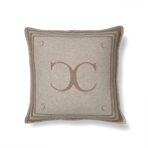 Classic Collection Monogram Cushion Cover, Beige