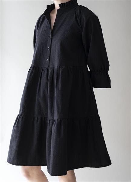 Gauhar Ruffled Dress, Black