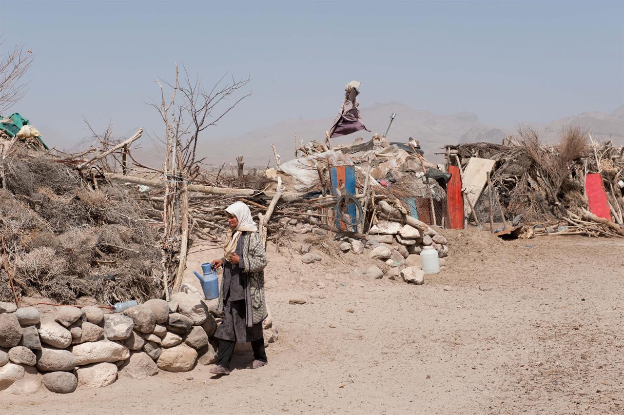 Leiren til Afshar-nomader i Kerman-provinsen
