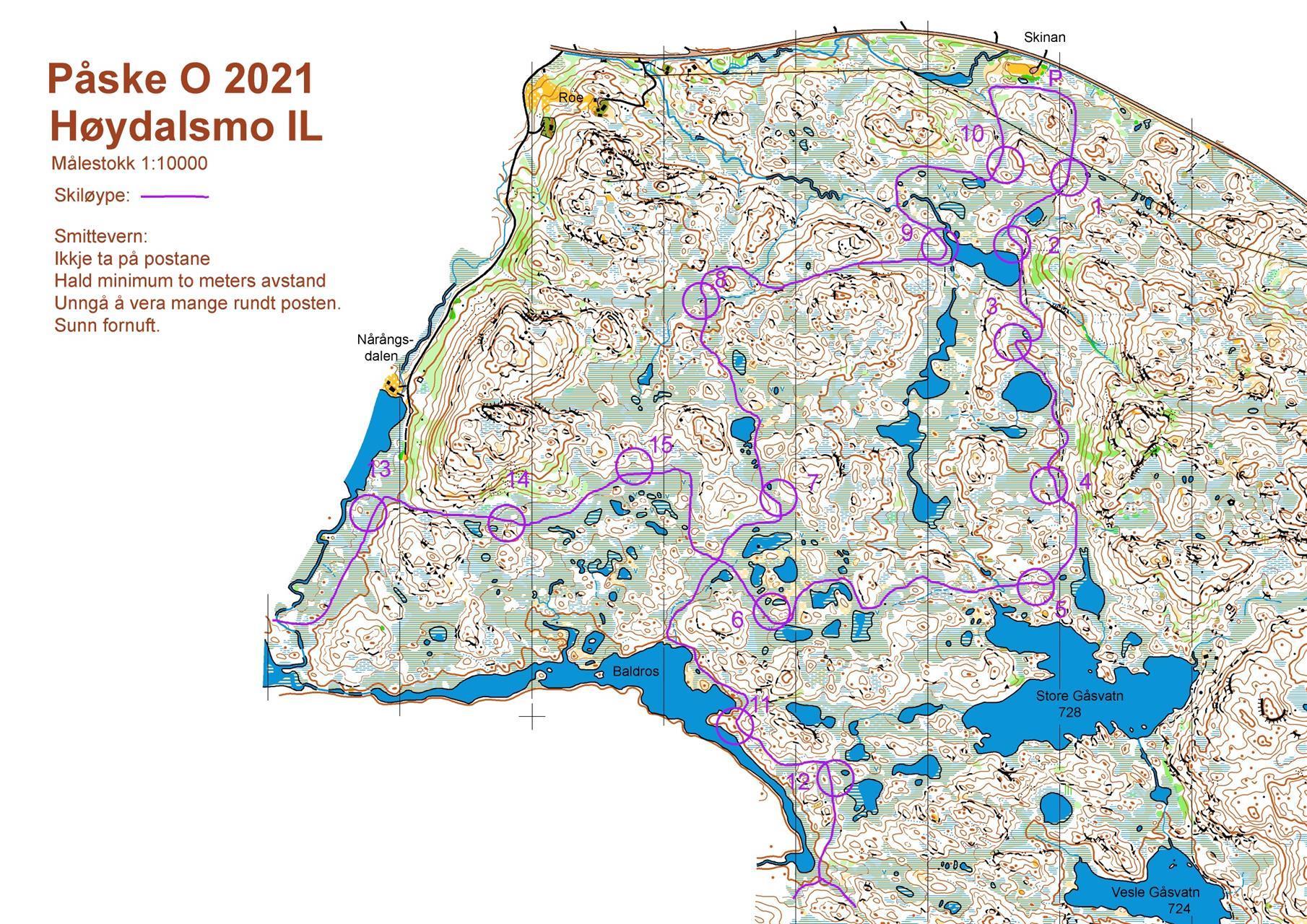 Kart Påske O 2021