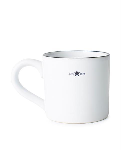 Lexington Stoneware Mug, White/dk Blue