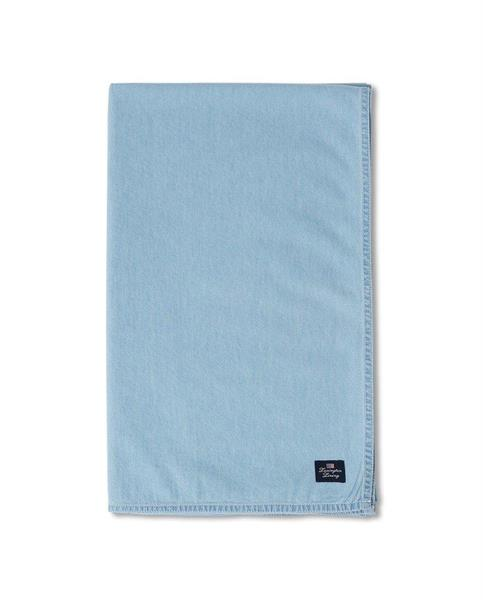Lexington Light Blue Denim Washed Cotton Tablecloth