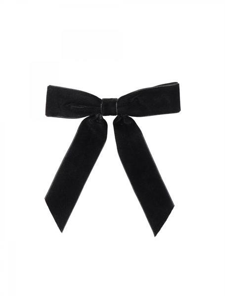 Gauhar Velvet Ribbon Barrette, Black
