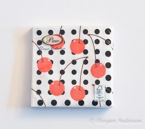 Servett 25x25 Cherrys