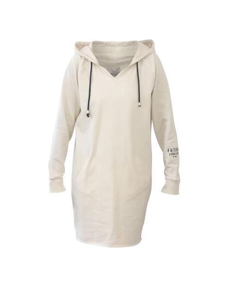Blue Savona Hood Dress, Ivory