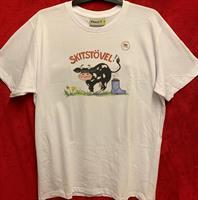 T-shirt Skitstövel M vit