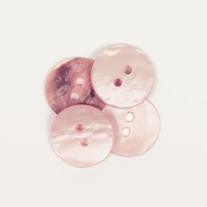 Perlemorknapp lys rosa 15 mm