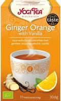 Yogi tee inkivääri-appelsiini vaniljalla 17 pussia, luomu