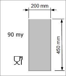Vakuumpåse 200 x 450 mm, 90 my