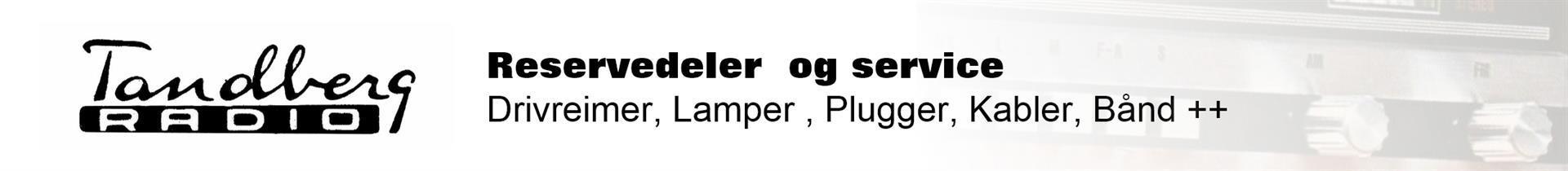 Tandberg - reservedeler og service