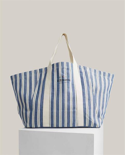 Lexington Beachway Organic Cotton Bag, Blue Multi Stripe