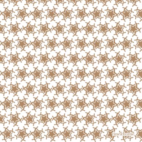 Tine K Home Paper Napkins w. Christmas Star, Camel