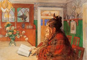 Karin läser Reproduktion