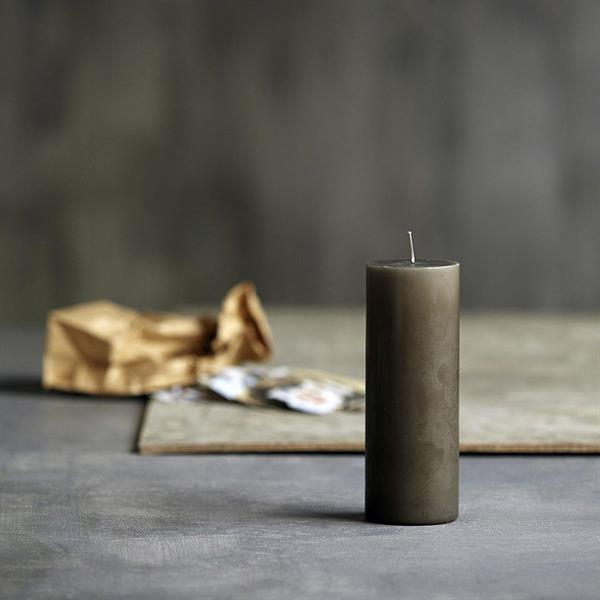 House Doctor Candle, Grey/Brown 20 x 7 cm