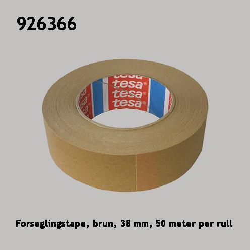 Forseglingstape, brun, 38 mm