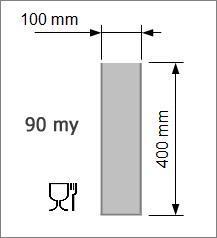 Vakuumpåse 100 x 400 mm, 90 my