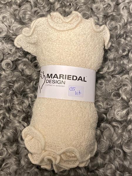 Smal sjal mossa Vit (05) Mariedal design