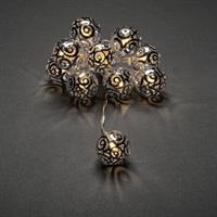Batterislinga silverbollar Konstsmide