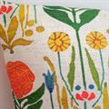 Kuddöverdrag Blomsterharen vit