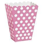 Popcornbeger Dot Rosa 8stk