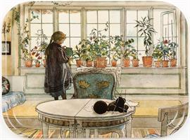 Bricka - Blomsterfönstret