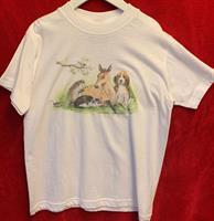 T-shirt Djurbild M vit