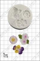Silikonform Fiol, Rose og Daisy FPC
