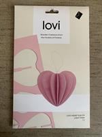Lovikort Hjärta  stort Rosa 6,8 cm  3D-pussel
