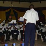 Kibera Band performing with Bandmaster Robert Simiyu