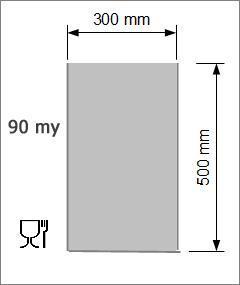 Vakuumpåse 300 x 500 mm, 90 my